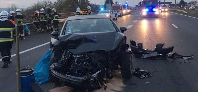 Verkehrsunfall Autobahn A6