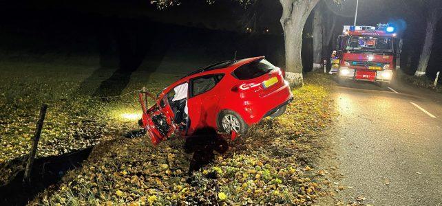 Verkehrsunfall außerorts